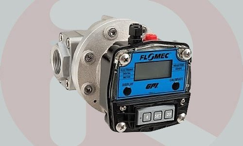 Flow Meter Flomec OM015 1/2 inch oval gear digital
