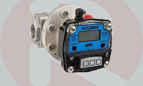 Flomec OM006 1/4 inch oval gear digital