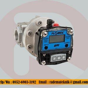 Flomec OM080 3 inch oval gear digital flow meter 35 to 750 lpm 40 bar (580 psi)